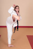 Martial Arts Woman. Second Degree Black Belt Woman royalty free stock photography