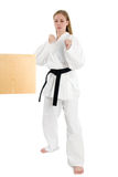 Martial Arts Woman Royalty Free Stock Photos