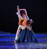 The martial arts world Ballet-The dance drama The legend of the Condor Heroes. In December 2, 2014, a large Chinese dance drama the legend of the Condor Heroes Royalty Free Stock Photos
