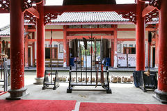 The martial arts in yongning town,sichuan,china Royalty Free Stock Photography