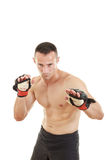 Martial fighter with fight gloves and bandage Stock Images