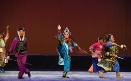"Martial guise-Peking opera ""Little Worriors of Yeuh's family"" Royalty Free Stock Photo"
