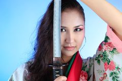 Martial woman Royalty Free Stock Photo