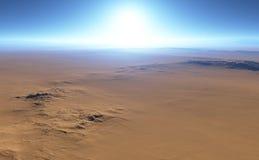 Martian desert landscape Royalty Free Stock Photo