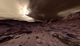 Martian Dust Storm. Large-scale planetary dust-storm on Mars Stock Photos