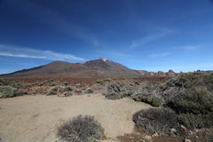 Martian landscape around Mount Teide Royalty Free Stock Images