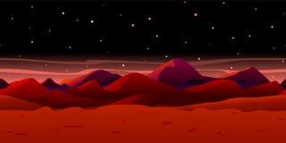 Martian Landscape Background illustration libre de droits