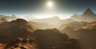 Martian landscape. Stock Images