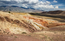 Martian landscape of Kyzyl-Chin. Martian landscape of Kyzyl-Chin in Altai, Russia Royalty Free Stock Photo