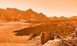Martian landscape Stock Image