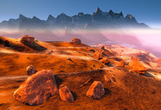 Martian landscape Royalty Free Stock Photography