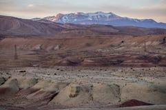 Martian landscape. Landscape near Ait Benhabdou village Stock Photos