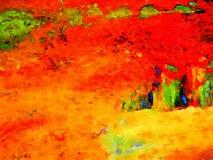 Martian Landscape in pittura Fotografie Stock