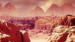 Martian Landscape Three stock footage