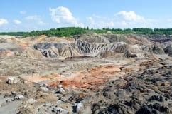 Martian landscape in the Urals stock images