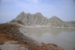Martian Mountains Fotos de Stock