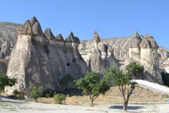 The Martian natural landscape of Cappadocia region Royalty Free Stock Photo