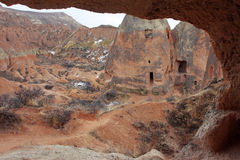 Martian red valley in Turkey Stock Image