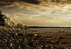 Martian Sunset Royaltyfri Bild