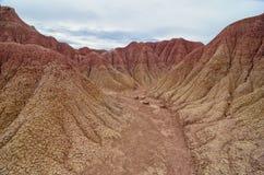Martian terrain - sand canyon of Tatacoa desert Royalty Free Stock Photos
