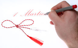 1 martie. Martisor - romanian spring holiday, 1 martie royalty free stock photography