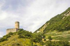 Martigny (Suiza) - castillo Imagen de archivo