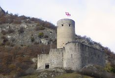 Martigny town small castle, Switzerland Stock Images
