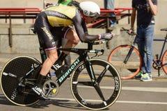 Martijn Keizer konkurent przy wysoką prędkością przy Giro 2017, Mediolan Obraz Royalty Free