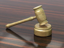 Martillo de la justicia Fotografía de archivo libre de regalías