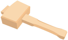 Martillo de madera para la carpintería libre illustration