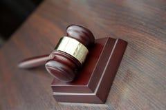 Martillo del juez Imágenes de archivo libres de regalías