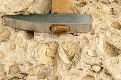 Martillo geológico Imagen de archivo libre de regalías