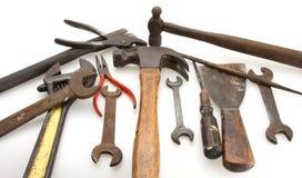 Martillo y herramientas de la vendimia Fotos de archivo