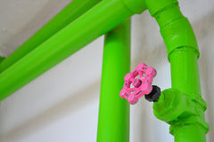 Martillo y tubo Foto de archivo