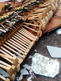 martillos rotos piano rotos pedazos Fotos de archivo libres de regalías
