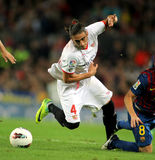 Martin Caceres of Sevilla FC Royalty Free Stock Images