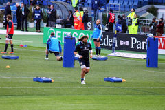 Martin castrogiovanni. The famous rugby player martin castrogiovanni during the warm up before the rbs 6 nations challenge match italy vs ireland.7/2/2015 stock photos
