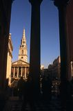 Martin-dans-le-Zones église, Londres de rue Photos stock