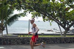 Martin Flander. Of Hungary running the marathon portion of Ironman World Championship in  Kailua Kona 2014 Stock Image