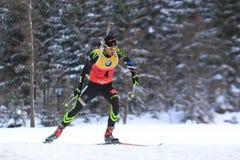 Martin Fourcade - campeonato do mundo no biathlon Foto de Stock Royalty Free