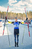 Martin Fourcade (FRA) after finish Royalty Free Stock Photo