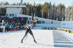 Martin Fourcade (FRA) before a firing line Stock Images