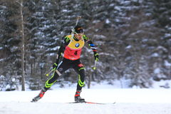 Martin Fourcade - world cup in biathlon Royalty Free Stock Photo