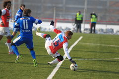 Martin Frydek and Marcel Gecov - football Royalty Free Stock Photography