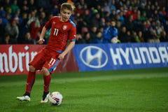 Martin Frydek. PRAGUE 27/03/2015 _ Friendly match Czech Republic U21 - England U21 Stock Images