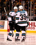 Martin Havlat and Logan Couture, San Jose Sharks Stock Image