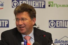 Martin Kallen at press conference Stock Photos