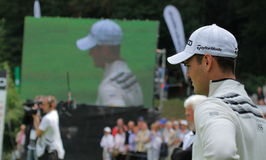 Martin Kaymer on the 18th. Royalty Free Stock Images