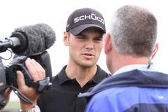 Martin Kaymer au Français de golf ouvrent 2010 Image libre de droits