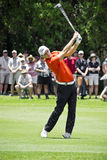 Martin Kaymer. Clubbing the ball up the fairway, heading to the green, on the 4th day of the tournament Stock Photo